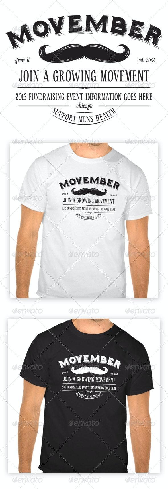 Movember T-Shirt - Events T-Shirts