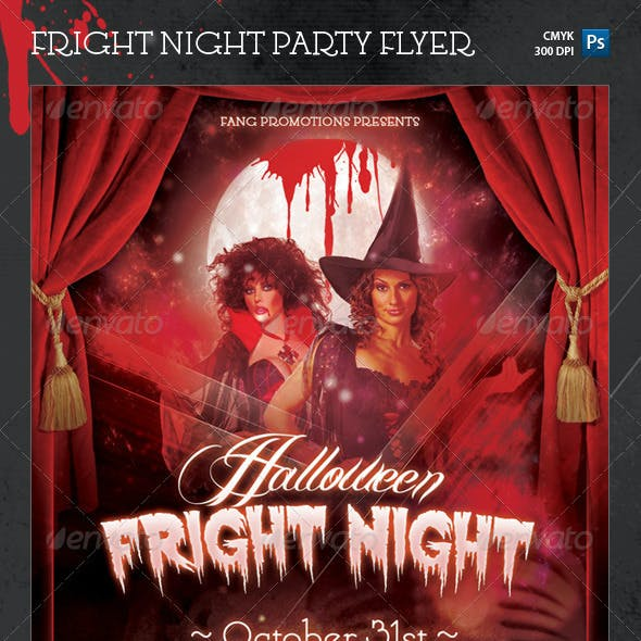 Halloween Fright Night Party Flyer Template