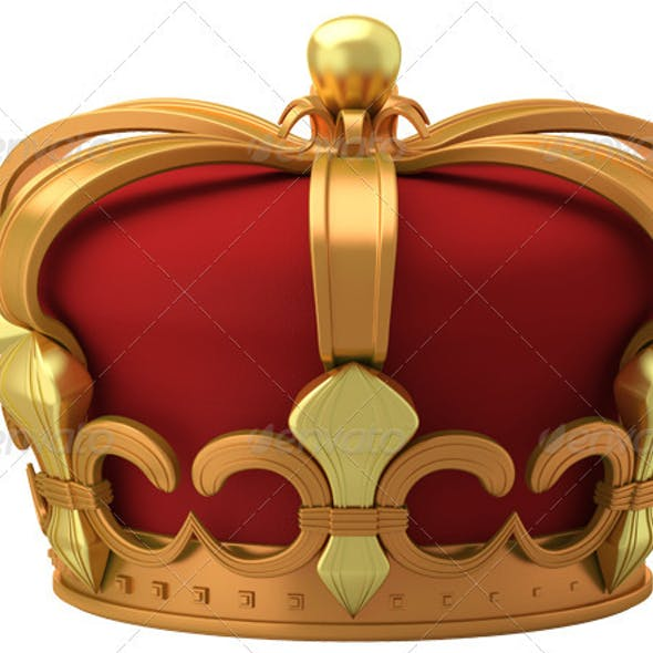 Gold imperial crown isolated