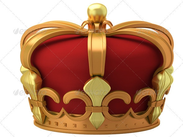 Gold imperial crown isolated - 3D Backgrounds