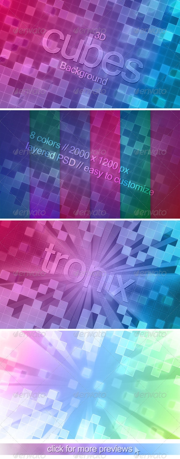 3D Cubes Background - Abstract Backgrounds
