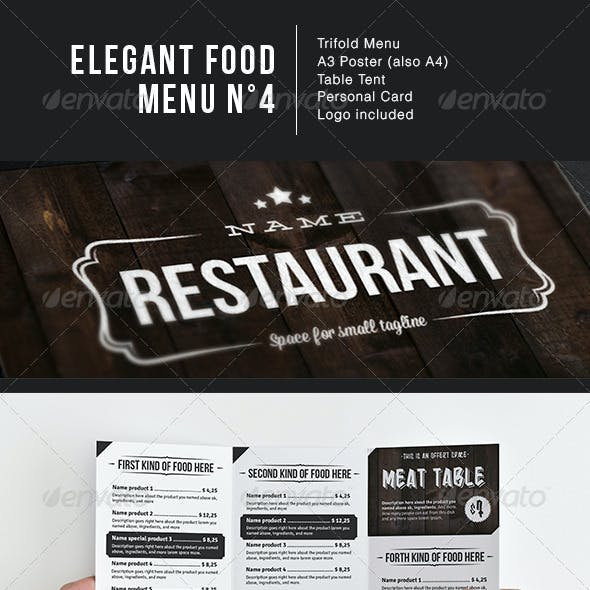 Elegant Food Menu 4