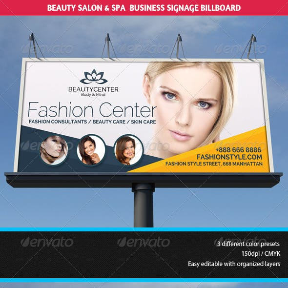 Beauty Center & Spa Business Billboard