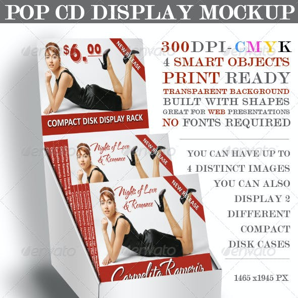 POP CD Display Mockup