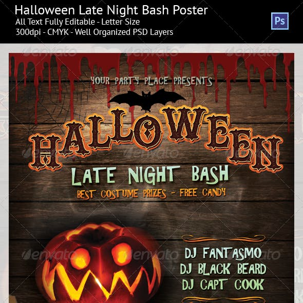 Halloween Late Night Party Poster/Flyer