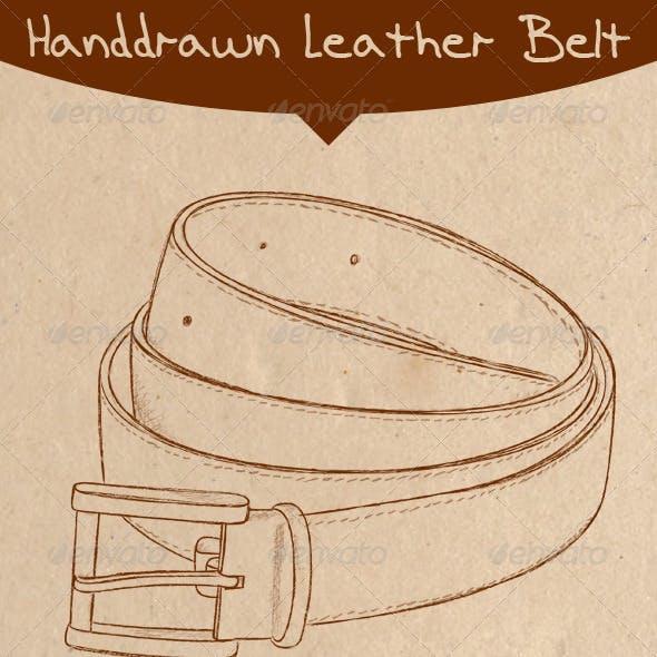 Handdrawn Leather Belt