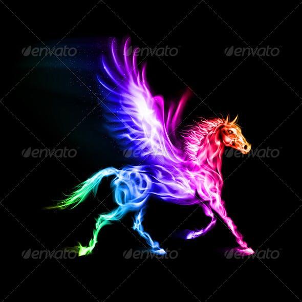 Colorful Fire Pegasus.