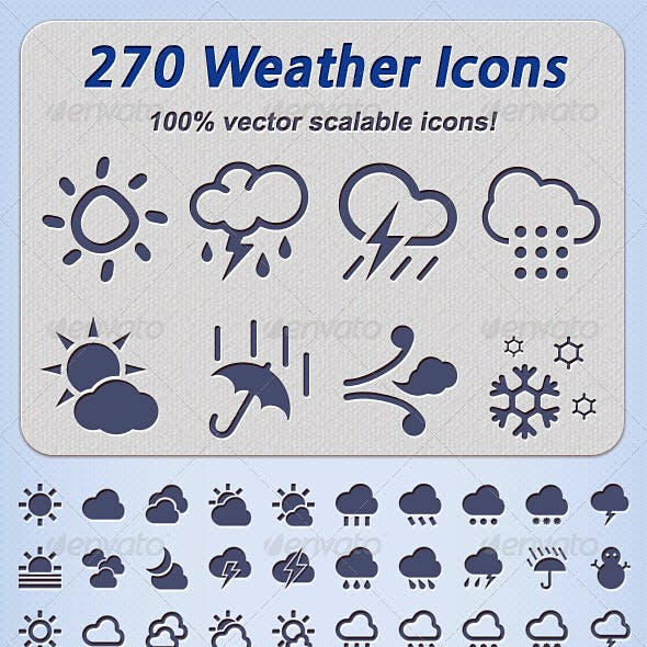 270 Weather Icons