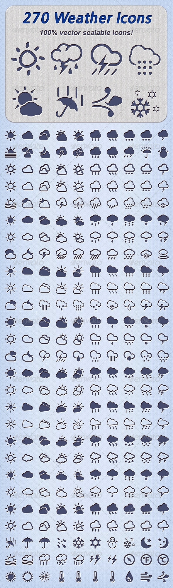 270 Weather Icons - Seasonal Icons
