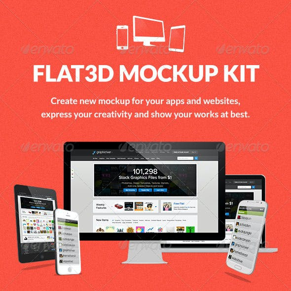 Flat3D Mockup Kit
