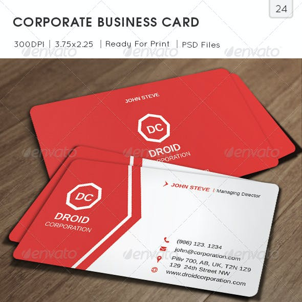 Corporate Business Card v24