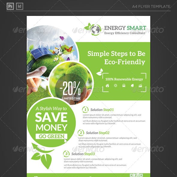 Renewable Energy Saving Flyer