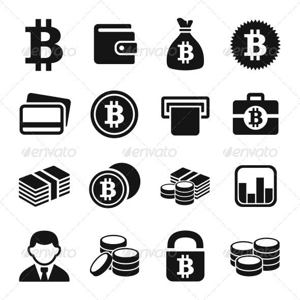 Bitcoin Icons Set