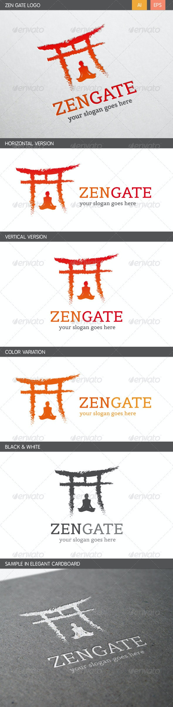Zen Gate Logo - Humans Logo Templates
