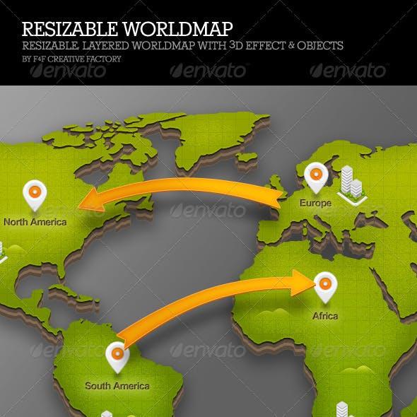 Resizable Worldmap