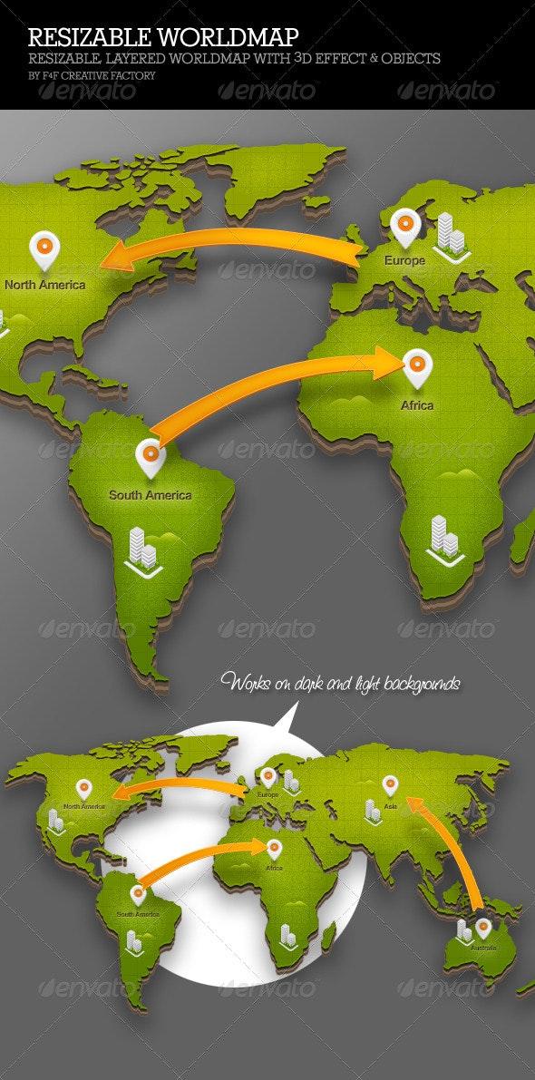 Resizable Worldmap - Illustrations Graphics