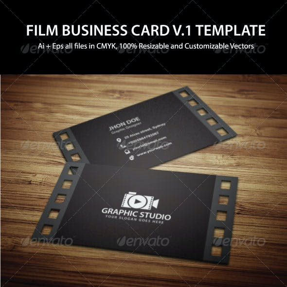Filmography Business Card Template