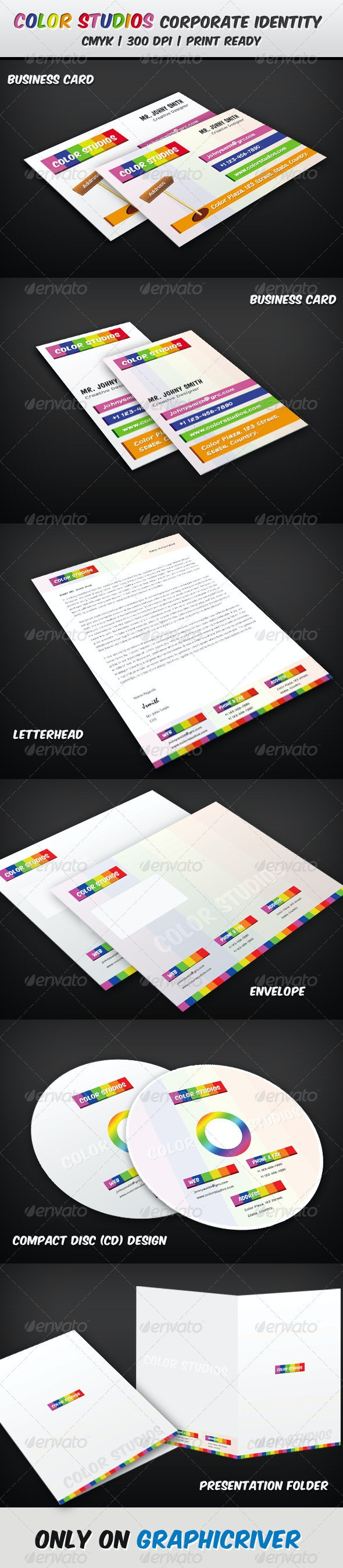 Color Studios Corporate Identity Pack - Stationery Print Templates