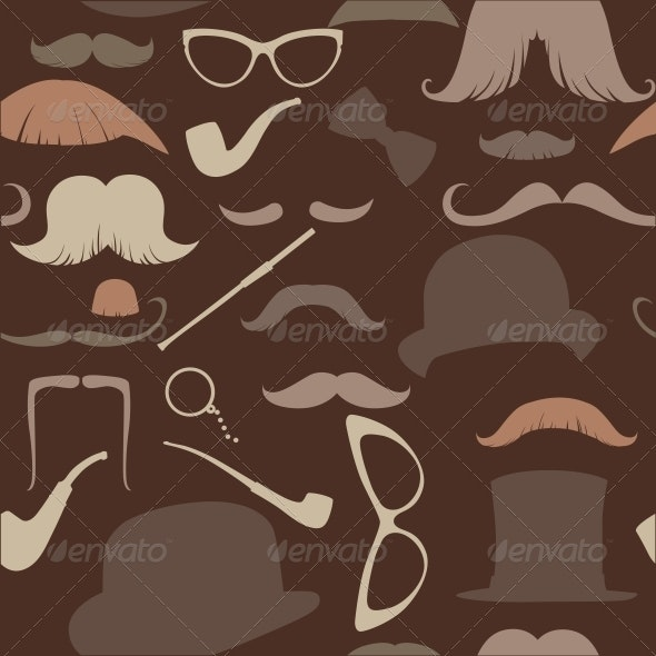 Art Deco Seamless Pattern in Retro Style - Miscellaneous Characters
