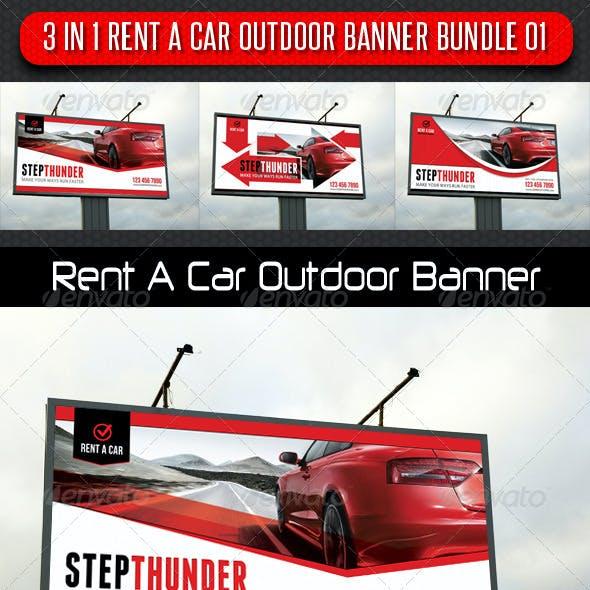 3 in 1 Rent A Car Outdoor Banner Bundle 01