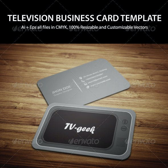 Television Business Card Template