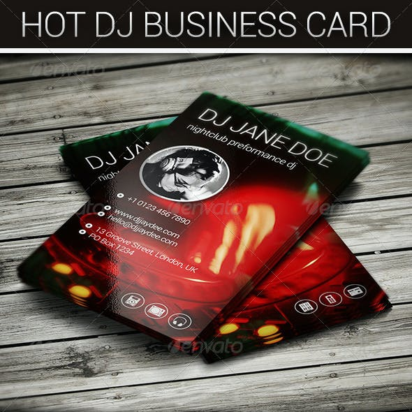 Hot DJ Business Card