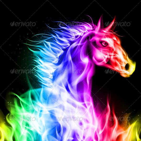 Colorful Fire Horse