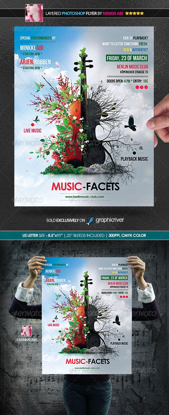 Music Facets Poster/Flyer - Concerts Events