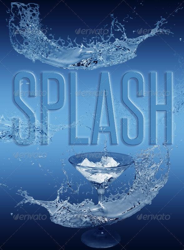 Ice Splash - Abstract 3D Renders