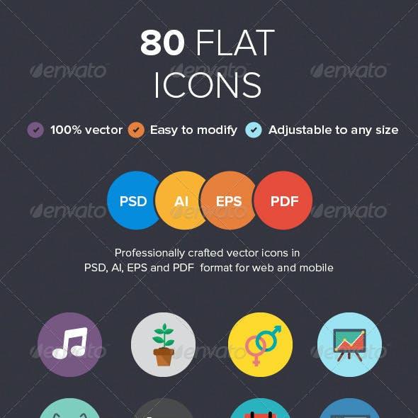 80 Flat Icons