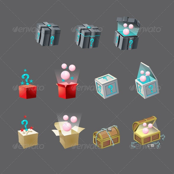 Mystery Box - Objects Icons