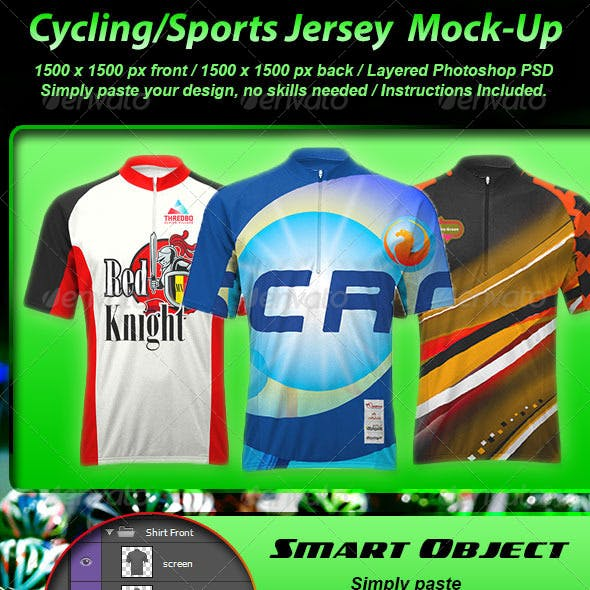 Photorealistic Cycling Jersey Mock-up