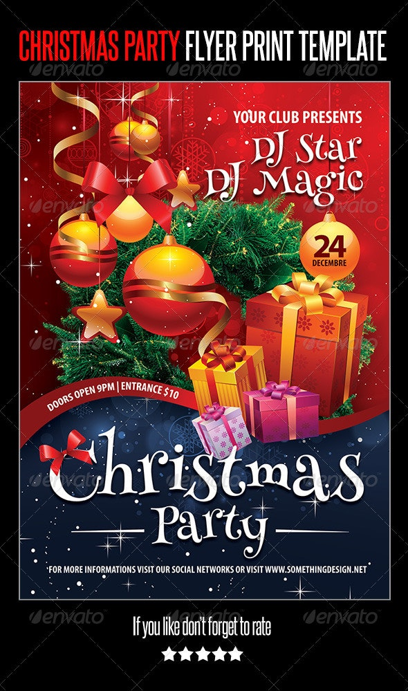 Christmas Party Flyer.Christmas Party Flyer Print Template