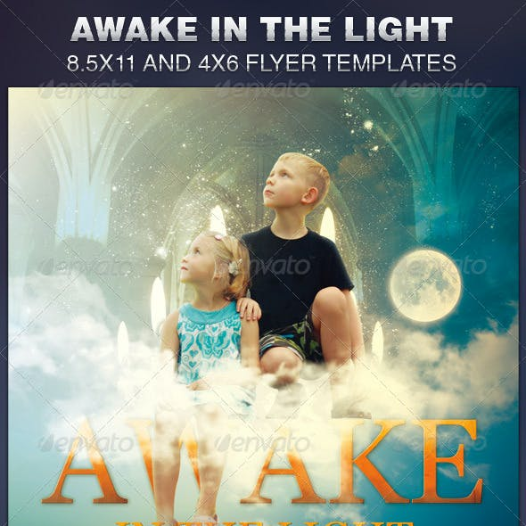 Awake in the Light Church Flyer Template