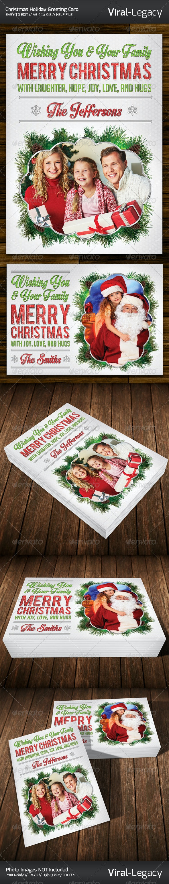 Merry Christmas Greeting Card - Cards & Invites Print Templates