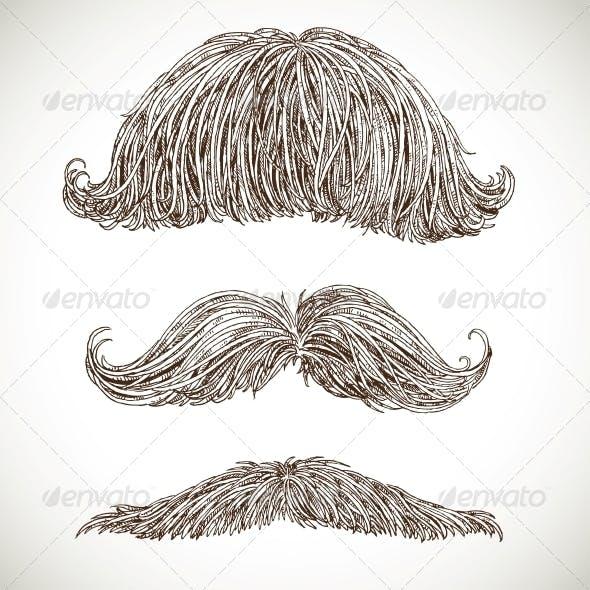 Retro Mustache Set