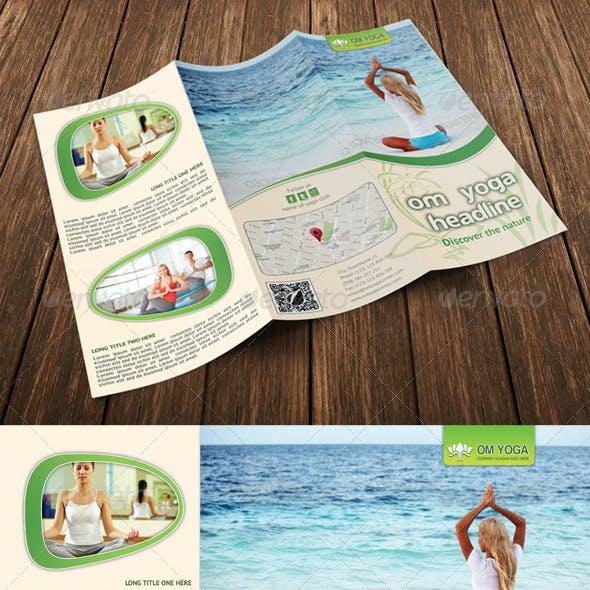 Yoga Trifold Brochure Template 06