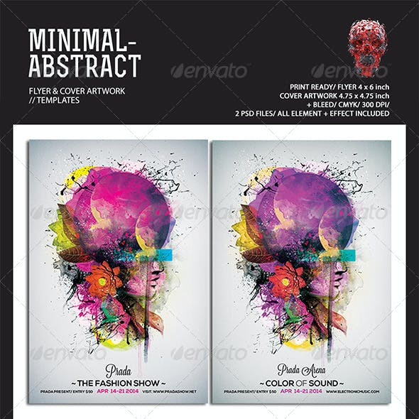 Minimal Abstract Flyer Templates