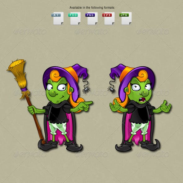 Witch Character - Set 7