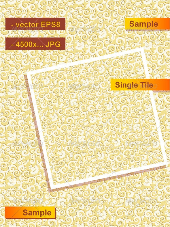 Seamless Floral Pattern or Background - Patterns Decorative