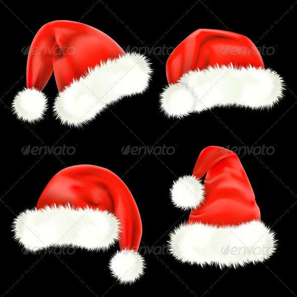 Santa Claus caps - Christmas Seasons/Holidays
