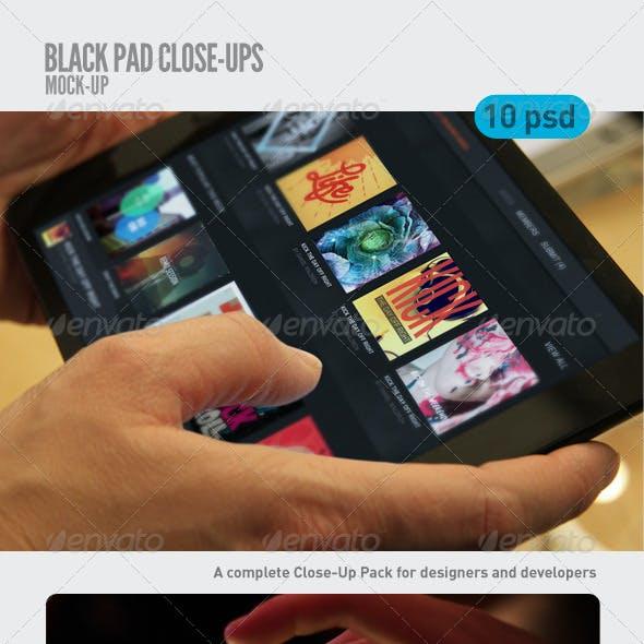 Black Pad | Tablet Close-Up Mock-Up
