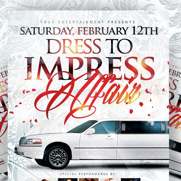Dress to Impress White Affair | Flyer + FB Cover