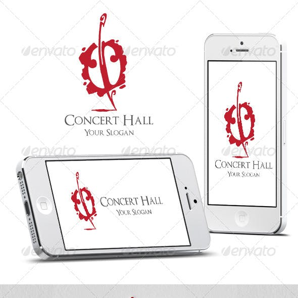 Concert Hall Logo Template