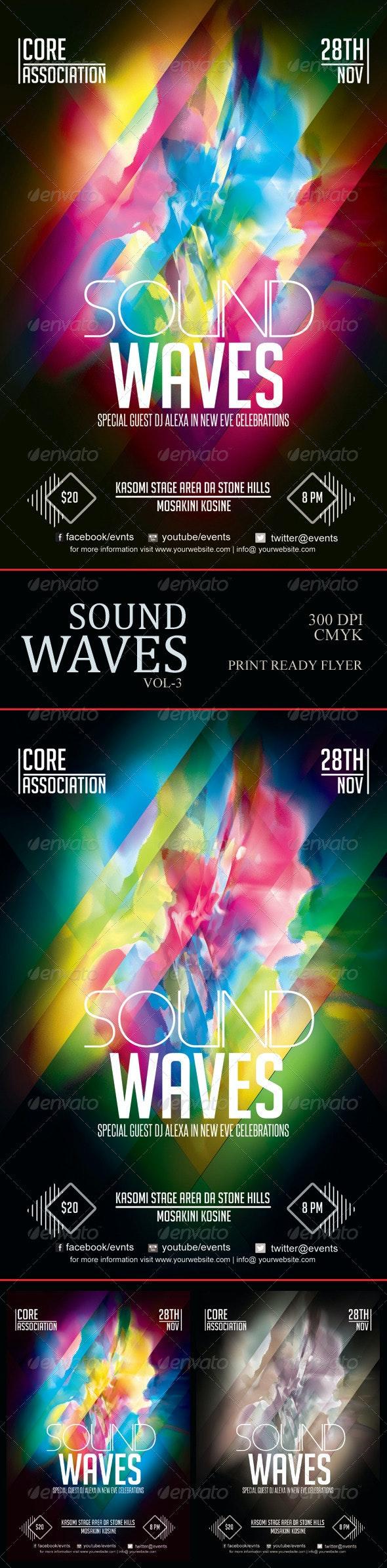 Sound Waves Flyer 3 - Concerts Events