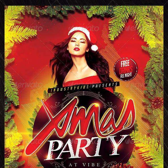 Christmas Party Psd Flyer