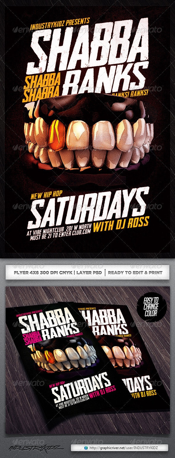 Shabba Ranks Flyer Psd - Clubs & Parties Events