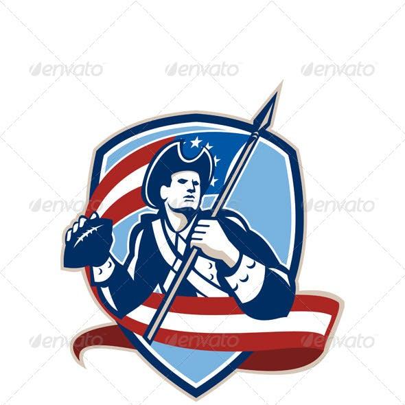 American Patriot Football Quarterback Shield