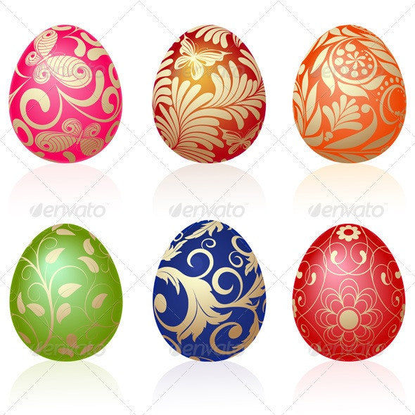 Easter eggs - Religion Conceptual