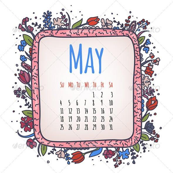 May Illustrated Calendar